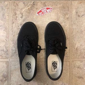 all black vans. Mens 8 and US Womens 9.5